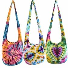 Tie dye cotton shoulder bag. Hippie, Boho, Hippy, Gypsy, Purse