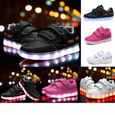 BABY KIDS BOYS GIRLS KIDS LED SNEAKER LIGHT UP SNEAKERS COLORFUL DANCE TRAINERS