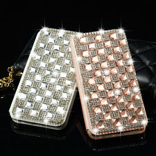 Luxury Bling Crystal Diamond Backbuckle Wallet Flip Case Cover For Apple iPhone
