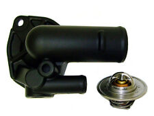 High Flow Thermostat Housing Jeep Ceramic Black with 195 Degree Thermostat