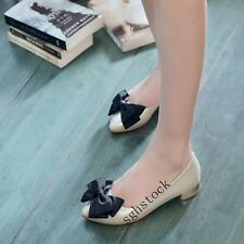 Womens Fashion Low Heels Shallow Bowknot Pointy Toe Casual Flats Oxford Shoes