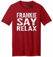 Frankie Say Relax Funny Soft Mens V-Neck T Shirt 80s Music Hollywood Tee