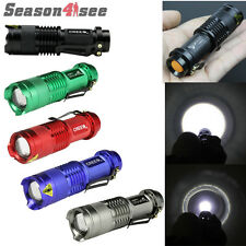 5 Color Mini Zoomable CREE Q5 LED 260 Lumens 3 Mode AA/14500 Flashlight Torch