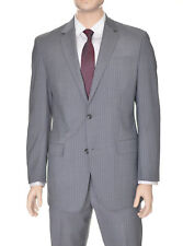 Sean John Modern Fit Gray Pinstriped Two Button Wool Blend Suit