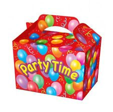 Party Time Occassion Boxes for Children Food Loot Lunch Gift Birthday Box Bags