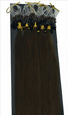 50g 20inch 100S Loop Easy Micro Ring Beads Tipped Remy 100% Human Hair Extension