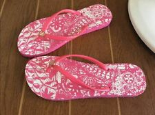 tory burch Pink flat flip flops beach sandals slippers Woman BRAND NEW