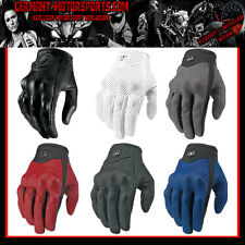 ICON PURSUIT GLOVE LEATHER MOTORCYCLE GLOVES CHOPPER CUSTOM CRUISER HARLEY QUAD