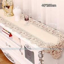 Vintage Floral Embroidery Cutwork Tassel Home Wedding Table Runner 4 Sizes #10ep