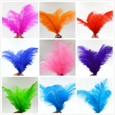 10-100pcs High Quality Natural OSTRICH FEATHERS 6-8'' Inch Weddings birthdays