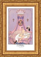 """Georges Barbier The Times of the Day Framed Canvas Giclee Print 19""""x27"""" (V17-15)"""