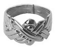 8 Band Sterling Silver Men's Puzzle Ring Sizes 6-16        #2546