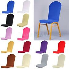 Solid Color Dining Room Semicircle Stretch Chair Cover Slipcover Protector Short