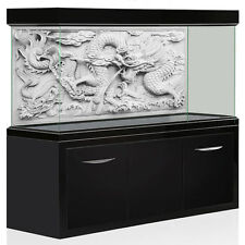 3D Dragon Cameo Aquarium Background Fish Tank Backdrop Poster Decorations Grey