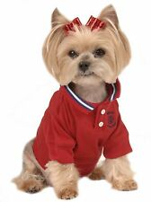 MAX'S CLOSET PET DOG CLOTHING Red POLO DOG SHIRT SMALL DOG NEW XS-L