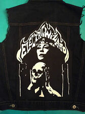 Electric Wizard Mens' Black Denim Cut-Off Patch Battle Jacket Doom Metal S-4XL