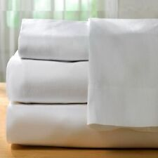 1 piece new white sheet 200 thread count cotton blend made in usa! all sizes!!