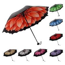 New Folding Windproof Anti UV/Rain Daisy Flower Floral Princess Women Umbrella