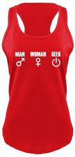 Man Woman Geek Funny Ladies Racerback Tank Top Nerd Gift Gamer Tank Z6