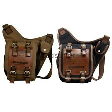 Travel Men's Canvas Vintage Casual Messenger Shoulder Crossbody Bag Backpack