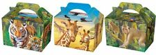 Wild Animal Party Food Boxes Tableware Takeaway Wedding Favour Picnic New