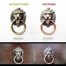 Vintage Lion Head Pull Handle Door Cabinet Dresser Drawer Retro Knob 2 Colors
