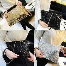 New Vintage Women Fashion Sequined Envelope Party Evening Purse Clutch Handbag