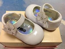 Josmo Girls White Patent Velcro Mary Janes Dress Shoe Infant Size 1 to Toddler 6
