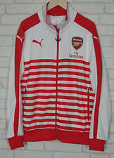 Arsenal Puma Mens Red White Anthem T7 Football Walkout Jacket Special Offer!!
