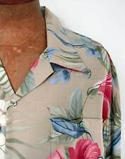 * Sage Green Hawaiian Floral Men's 100% Rayon Crepe Hawaiian Aloha Shirt *NWOT*