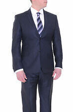 Jude Silver Slim Fit Blue Textured Loro Piana Super 130's Wool Suit