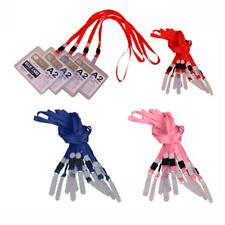 10 x Flat Lanyard ID Card Business Badge Holder Neck Strap Cord With PVC Hook