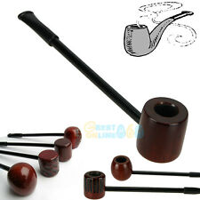 New Long Wooden Timber Churchwarden Smoking Pipe Tobacco Cigarettes Cigar Pipes