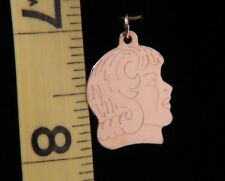 """14k Yellow Gold Engraveable Kid Charm Girl Pendant on 16"""" Delicate Chain NEW!!"""
