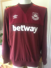 West Ham 2015/16 ADULTS TRAINING DRILL TOP CLARET - Various Sizes