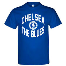 "Official Chelsea FC Mens 100% Cotton Royal Blue ""The Blues"" T-Shirt S M L XL XXL"