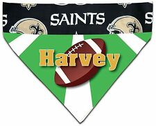 NEW Over Collar Dog Pet Personalized NFL Football New Orleans Saints Bandana