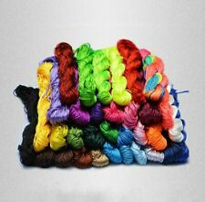 Chinese Knot Satin Nylon Braided Cord Macrame Beading Rattail Wire Cords 1mm