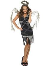 Adult Sexy Dark Fallen Angel Ladies Halloween Party Fancy Dress Costume Outfit