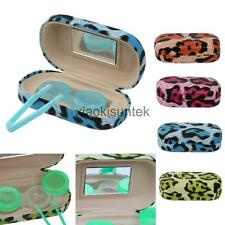 LEOPARD Mini Contact Lens Travel Kit Storage Case Holder Container Mirror Box