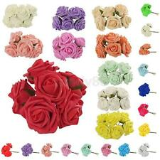 Various 10x Colorfast Foam Roses Artificial Flowers Wedding Home Party Decor