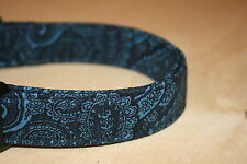 Navy Blue Paisley Adjustable Dog Collars & Martingales & Leashes