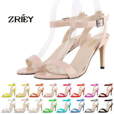 ZriEy Womens High Heels Stilettos Ankle Strap Sandals Bridal Wedding Party Shoes