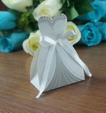 Romantic Wedding Favor Candy Box Bride & Groom Dress Tuxedo Party Ribbon 50 pcs