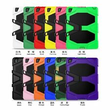 Shockproof Heavy Duty Hybrid Rubber Survival Stand Case For iPad Series Tablets