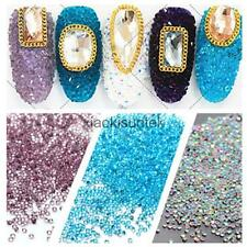 1000pcs 3D Alloy Nail Art Rhinestones Gems Acrylic Tips Decoration Manicure DIY