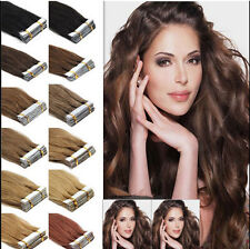 "20 pcs  16-24""  Remy AAA Tape In 100% Human Hair Extensions Straight Hair"