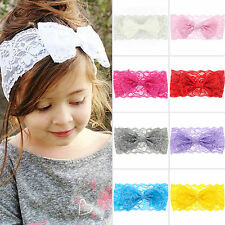 Kids Baby Girls Toddler Cute Lace Bow Headband Hair Band Headwear Accessories