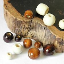 50 Packs of Round Wooden Beads Jewelry DIY Finding 10/12/14/16/17/18 mm
