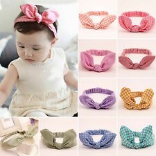 Baby Kids Girls Turban Striped Polka Dot Headband Bow Knot Hair Band Head Wrap